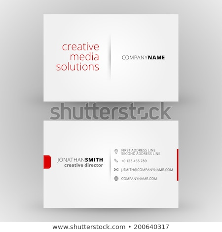white abstract business card template stock photo © sarts