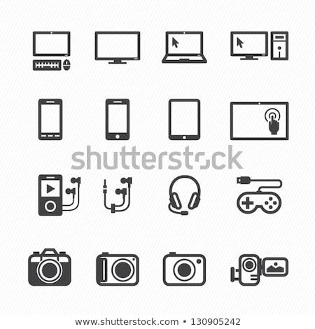 Laptop ikon elektronikus berendezés modern számítógép Stock fotó © robuart