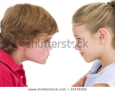 Brother and sister staring at each other stock photo © monkey_business