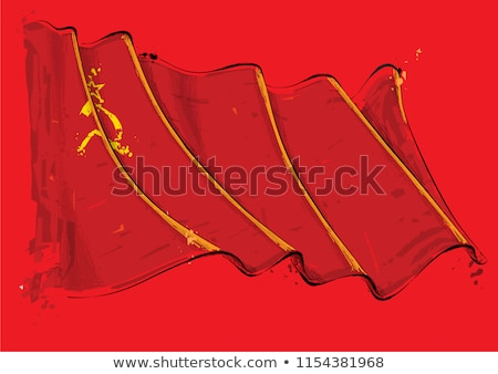 Soviet Union Artistic Brush Stroke Waving Flag Stock photo © nazlisart
