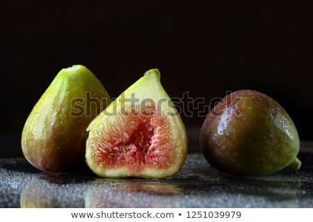 Wet washed whole figs on table Stock photo © dash