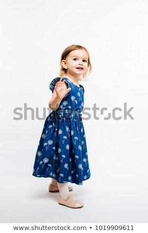 Kid meisje golf vaarwel typografie illustratie Stockfoto © lenm
