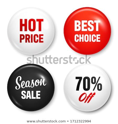 Preto venda metal círculo distintivo modelo Foto stock © molaruso