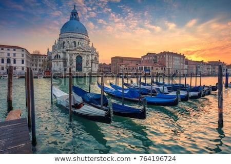 運河 ヴェネツィア イタリア ピンク 日没 屋根 ストックフォト © neirfy