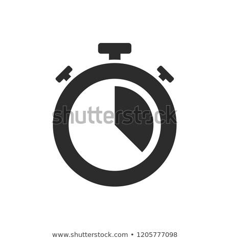 Geïsoleerd stopwatch icon twintig verleden witte Stockfoto © Imaagio