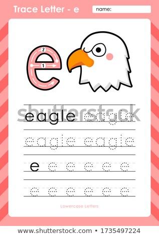 Inglês palavra Águia ilustração escolas Foto stock © bluering