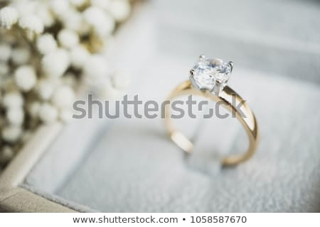 Wedding rings, gift box and flowers for the bride Stock photo © ruslanshramko