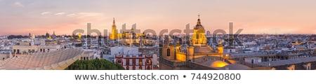Andalusia panorama at sunset Stock photo © benkrut