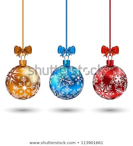 набор Рождества украшения изолированный белый Сток-фото © Lady-Luck