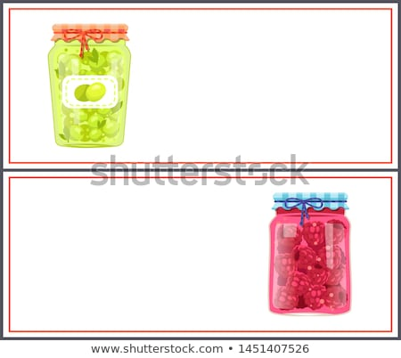 Preserved Food Banners with Olive and Raspberry Stock photo © robuart