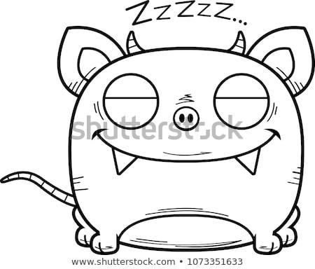 Cartoon Chupacabra Napping Stock photo © cthoman