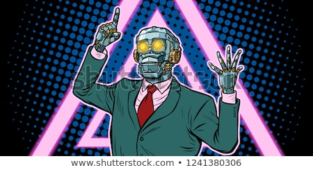 cyberpunk 80s style emotional speaker robot dictatorship of ga stock photo © studiostoks