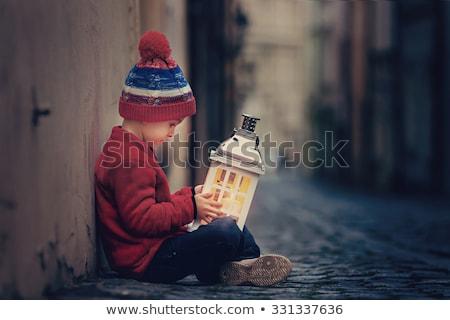 Gyermek égbolt lámpások illusztráció hold Stock fotó © adrenalina