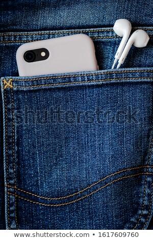 Cellulare denim caso realistico smartphone blu Foto d'archivio © YuriSchmidt