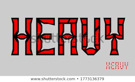 red and black bold dual letters a and i vector illustration stock photo © cidepix