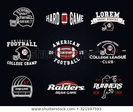 Football logo emblème USA sport Photo stock © JeksonGraphics