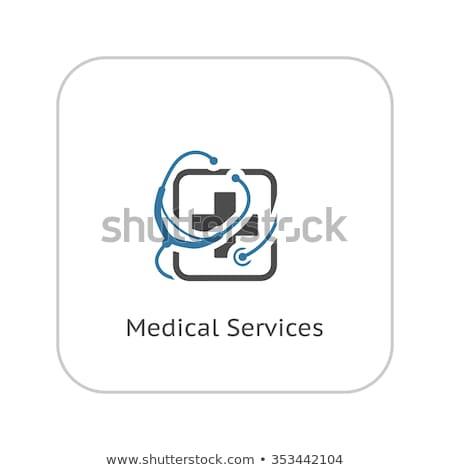 Médication médicaux services icône design presse-papiers Photo stock © WaD