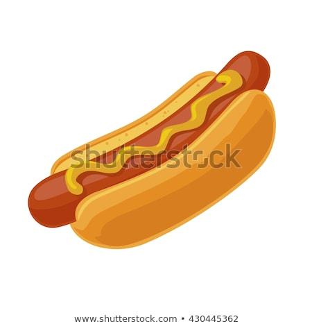 Sanduíche cachorro-quente pôsteres conjunto pão Foto stock © robuart