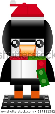 Plastic Penguin in Red Scarf Vector Illustration Stock photo © robuart