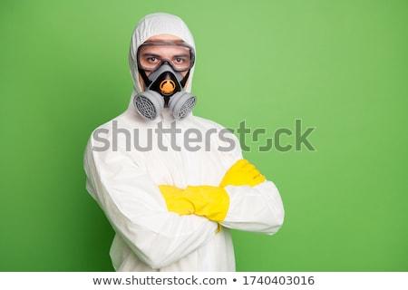 Homme masque à gaz illustration cartoon environnement protection Photo stock © adrenalina