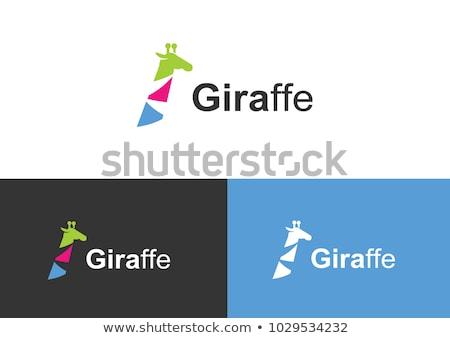 жираф логотип вектора икона элемент символ Сток-фото © blaskorizov