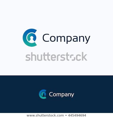 Zöld férfi c betű ikon logo vektor Stock fotó © blaskorizov