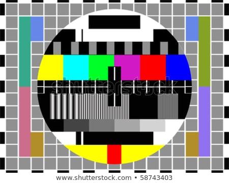 Retro televízió szett tv teszt kártya Stock fotó © patrimonio