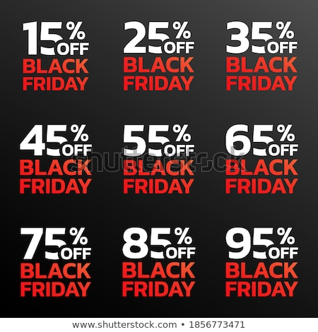 Black friday venda por cento promo adesivo Foto stock © robuart