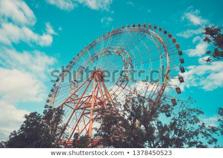 An amusement park next to the beach Stock photo © bluering