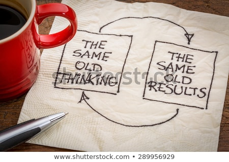 The Same Old Thinking The Same Old Results Concept Stock photo © ivelin