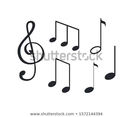 Music Notes, Melody Visual Representation on Sheet Stock photo © robuart