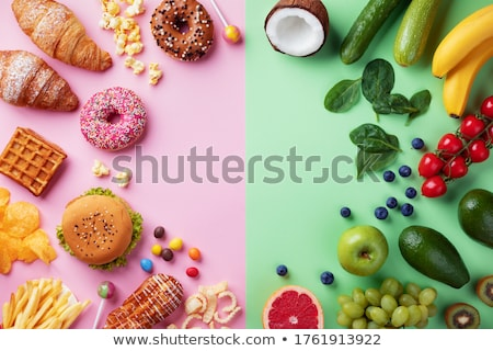 Healthy lifestyle against harmful Stock photo © jossdiim