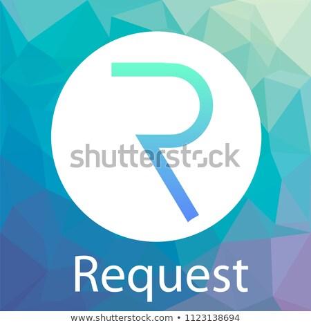 Kérés logo valuta piac embléma virtuális Stock fotó © tashatuvango