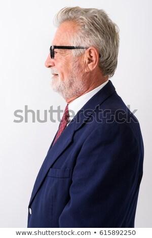 Perfil retrato feliz empresario traje sonriendo Foto stock © deandrobot