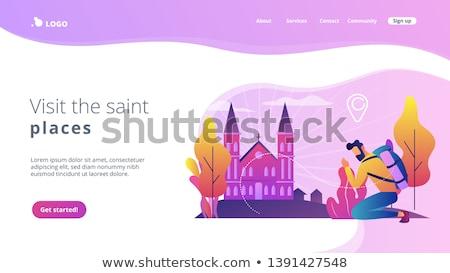 Hristiyan iniş sayfa hacı ünlü Stok fotoğraf © RAStudio