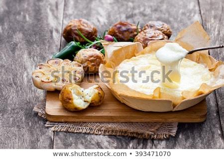 Stockfoto: Gebakken · camembert · kaas · aardappel