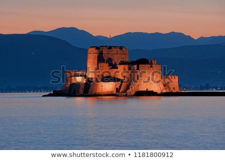 замок Греция укрепление небе синий Сток-фото © borisb17