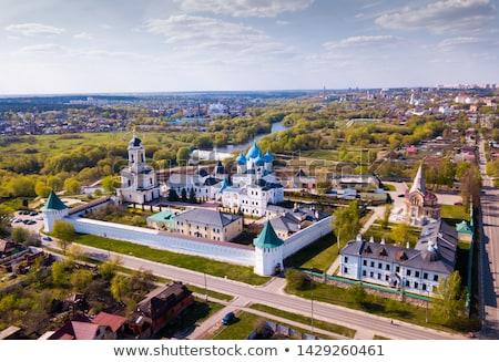 Kolostor Oroszország orosz ortodox magas bank Stock fotó © borisb17
