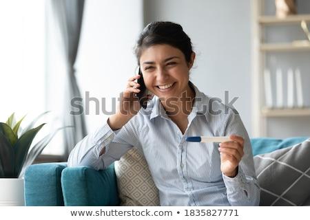 Insanlar ilişkileri iki kızlar cep telefonu Stok fotoğraf © Lopolo