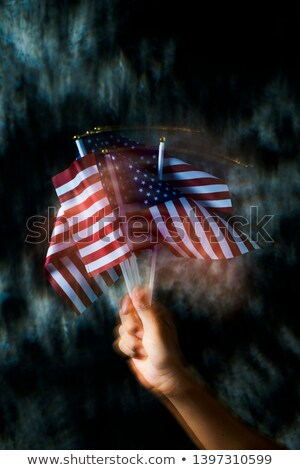 man waving some american flags Stock photo © nito