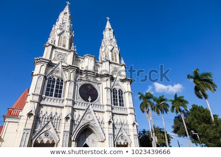 Basilica of the Sacred Heart in San Salvador Stock photo © benkrut