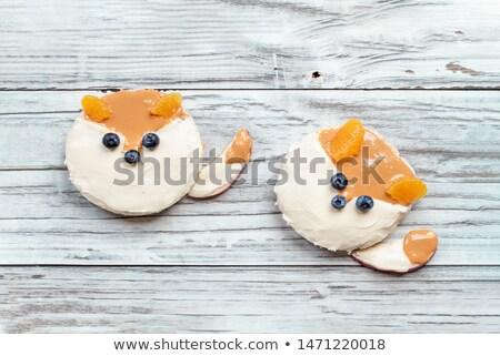 Funny Rice Cake Foxes Stock photo © StephanieFrey