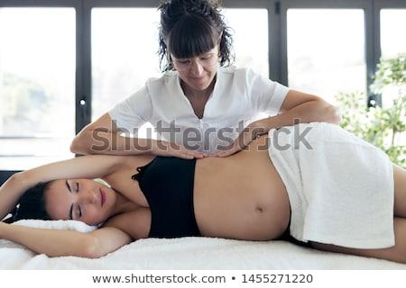 masszázs · terápia · nő · orvos · kezek · terapeuta - stock fotó © andreypopov