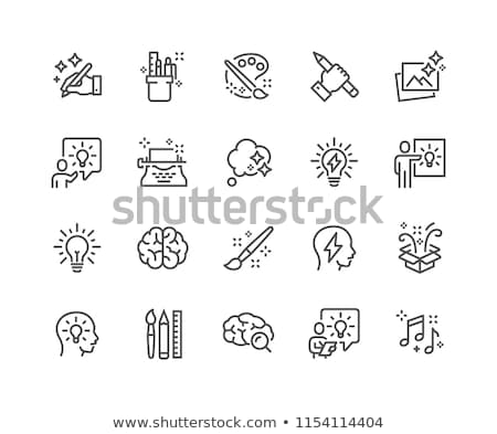 mind and brain line icon set stock photo © bspsupanut