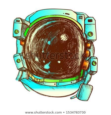 Astronauta espacio exposición traje color vector Foto stock © pikepicture