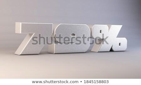 Dziewięć procent biały odizolowany 3D 3d ilustracji Zdjęcia stock © ISerg