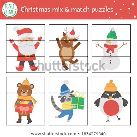 how many Santa Claus characters game for kids Stock photo © izakowski