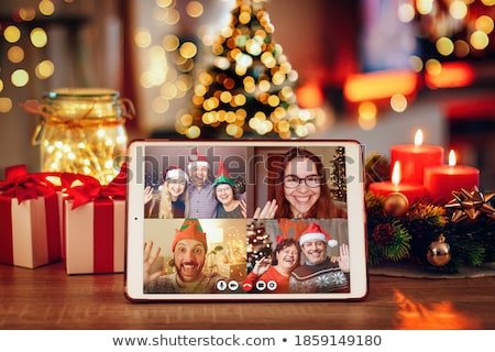 Stock photo: Christmas family party