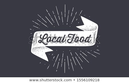 Flag Local Food. Old school flag banner with text Stock photo © FoxysGraphic