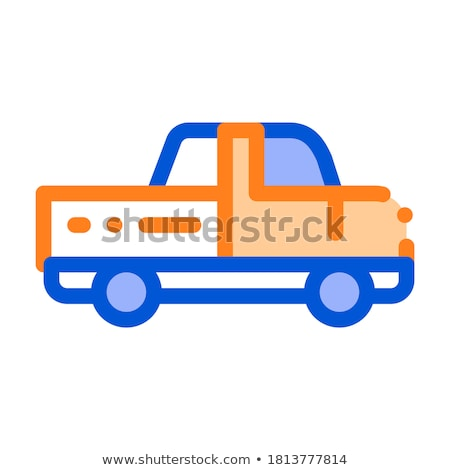 Agricultural Pickup Cargo Vector Thin Line Icon Stock photo © pikepicture